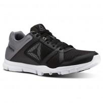 Reebok YourFlex Train 10 Training Shoes Mens Black/Shark/White (778UWXPC)