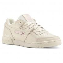 Reebok Workout Plus Shoes Womens Vintage-White/Practical Pink (779KJNDX)
