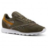 Reebok Classic 83 Shoes Mens Terrain Grey/Army Green/Whit/Soft Camel (781BHUIF)