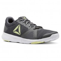 Reebok Flexile Training Shoes Mens Shark/Blk/Lemon Zest/Wht (782QDGYH)