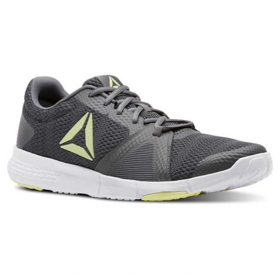 Reebok Flexile Training Shoes Mens Shark/Blk/Lemon Zest/Wht (782QDGYH)