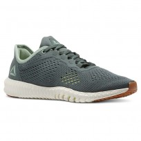 Reebok Flexagon Training Shoes Womens Chalkgreen/Industrial Grn/Chalk/Lemonzest/Gum (786YVKLO)