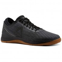 Reebok CrossFit Nano Shoes Mens Black/Alloy/Gum (787GWSDC)