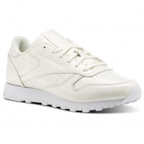Chaussure Reebok Classic Leather Femme Blanche (789ZAMEY)
