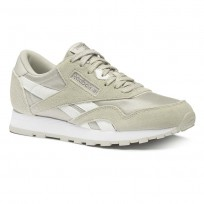 Reebok CL NYLON Shoes Boys Skull Grey/Wht/Silver (792DIEKX)