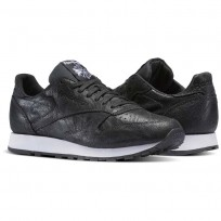 Chaussure Reebok Classic Leather Homme Noir/Blanche (793IYGCN)