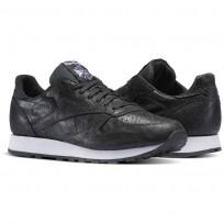 reebok classic leather παπουτσια ανδρικα μαυρα/ασπρα (793iygcn)