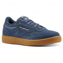 Reebok Club C Shoes Kids Mc-Deep Sea/Gum (798VNUST)