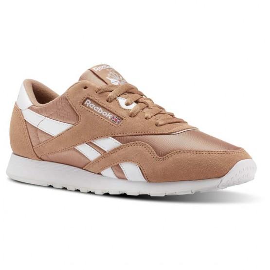 Reebok Classic Nylon Shoes Mens Sf-Bare Brown/White (800CINUX)