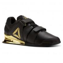 Reebok Legacy Lifter Shoes Mens Black/Gold (802OIHVW)