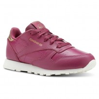 Reebok Classic Leather Shoes Girls Rm-Twisted Berry/Chalk (803HDTLF)