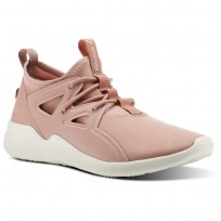 Reebok Cardio Motion Studio Shoes Womens Chalk Pink/Urban Maroon/Chalk (804BVLZE)