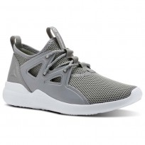 Reebok Cardio Motion Studio Shoes Womens Tin Grey/Wht/Lemon Zest (804UFNXO)