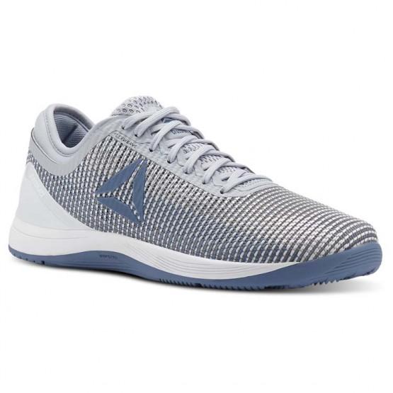 Reebok CrossFit Nano Shoes Womens Cloud Grey/Blue Slate/Spirit White/White (807URXZD)