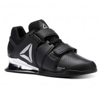 Reebok Legacy Lifter Shoes Womens Black/White/Silver (812QYIRD)