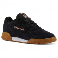 Reebok Workout Plus Shoes Mens Spg/Black/Digital Pink/White/Gum (813VOCSG)