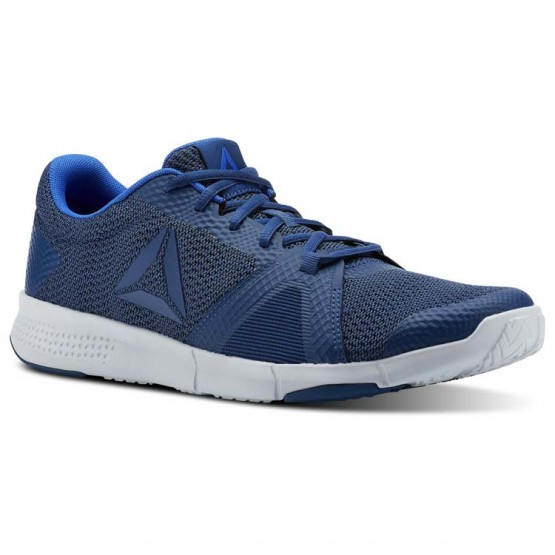 Reebok Flexile Training Shoes Mens Bunker Blue/Collegiatenvy/Vitalblue/Spiritwht (814OEYRU)