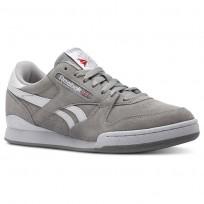 Reebok Phase 1 Pro Shoes Mens Estl-Tin Grey/White (815ZNXHQ)