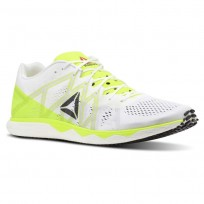 Reebok Floatride Run Running Shoes Mens White/Solar Yellow/Black/Steel (817RYJWL)