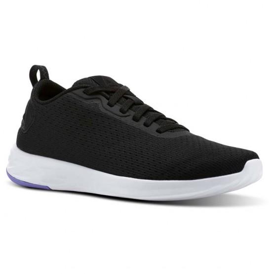 Reebok Astroride Walking Shoes Womens Black/Moonpool/White (821VXFSG)