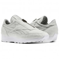 Reebok Aztec Shoes Womens Skull Grey/Silver Metallic/White (822TEYRC)