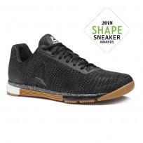 Reebok Speed Training Shoes Mens Black/Reebok Rubber Gum/White (825WFPXN)