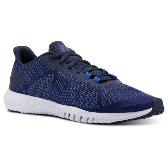 Reebok Flexagon Training Shoes Mens Collegiate Nvy/Bunkerblue/Spiritwht/Vitalblue (828ERQCF)
