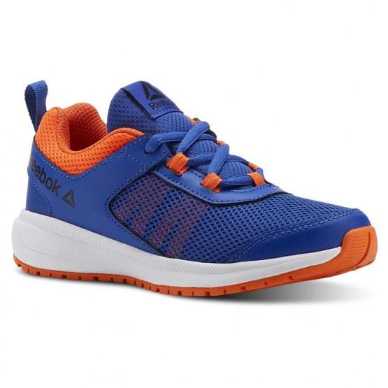 Reebok Road Supreme Running Shoes Boys Collegiate Royal/Bright Lava/White/Blk (830QEIRY)