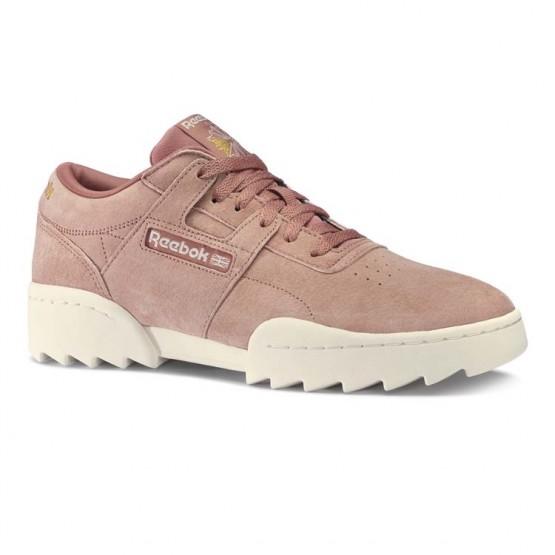 Reebok Workout Ripple OG Shoes Mens Cold Grey/Chalk/Gold Met (831UQNYP)