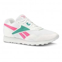 Reebok Rapide MU Shoes Mens We-White/Totally Teal/Acid Pink (832QRLWI)