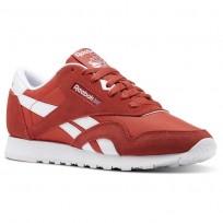 Reebok Classic Nylon Shoes Womens Red/Clay Tint/White (832WFYVU)