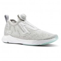 Reebok Pump Supreme Running Shoes For Men Grey/Grey/White/Blue (835EXIVD)