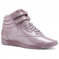 Chaussure Reebok Freestyle HI Femme Rose Doré (839CBVYA)