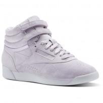 Reebok Freestyle HI Shoes Womens Quartz/White (839IPERL)