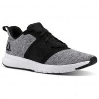 Reebok Print Running Shoes Mens Black/White (839JPNZQ)