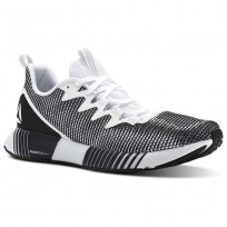 Reebok Fusion Flexweave Running Shoes Mens White/Skull Grey/Black (840DAFIQ)