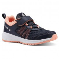 Reebok Road Supreme Running Shoes Girls Coll Navy/Digital Pink/Wht/Silver (841BJHES)