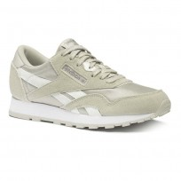 Chaussure Reebok Classic Nylon Garcon Grise/Argent (842FZDKY)