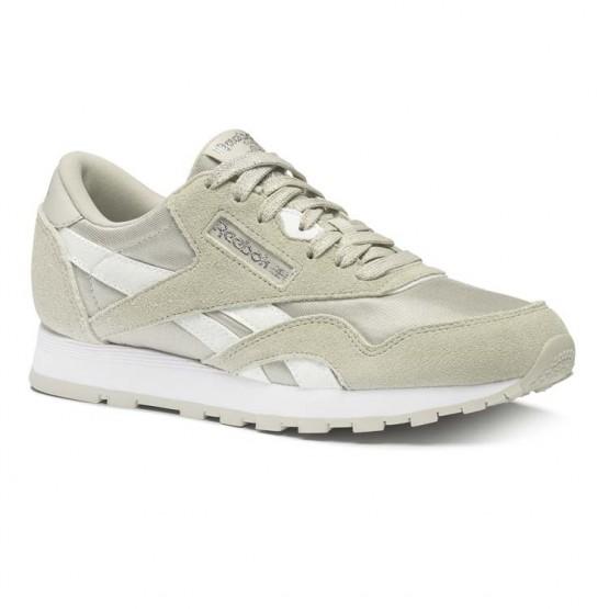 Reebok Classic Nylon Shoes Boys Skull Grey/Wht/Silver (842FZDKY)