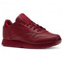 Reebok Classic Leather Shoes Womens Cranberry Red (846LZBCD)