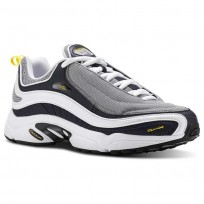 Reebok Daytona DMX Shoes Mens Og-Wht/Night Navy/Mgh Solid Grey/Yellow/Black (850HQJWR)