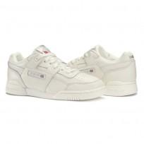 Reebok Workout Plus Shoes Womens Chalk/Metallic Silver (850LIDNE)