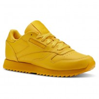 Reebok Classic Leather Shoes Womens Fierce Gold (850ZMWOJ)