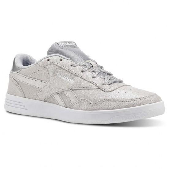 Reebok Royal Techque Shoes Womens Silver Metallic/White/Lgh Solid Grey (851PYTZB)