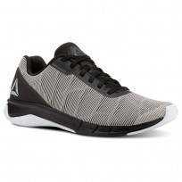 Reebok Flexweave Run Running Shoes Mens White/Alloy/Tin Grey/Black (851RZATU)