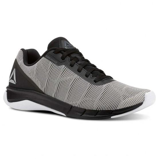 Reebok Flexweave Run Running Shoes Mens White/Alloy/Tin Grey/Black (851RZATU)