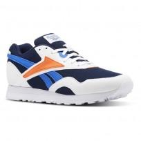 Reebok Rapide MU Shoes Mens White/Collegiate Navy/Vital Blue/Bright Lava (852SNUHP)