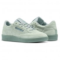 Reebok Club C 85 Shoes Womens Green/Seaside Grey/White (856MKTXW)