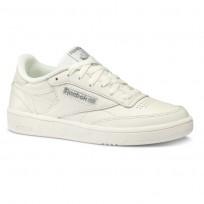 Reebok Club C 85 Shoes Womens Trend X-Chalk/Chalk Green (862OSIRH)