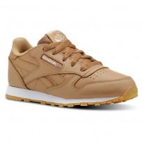Reebok Classic Leather Shoes Kids Gum-Soft Camel/White (865OTWVM)
